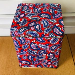 Paisley Metal Tin Container Made In England